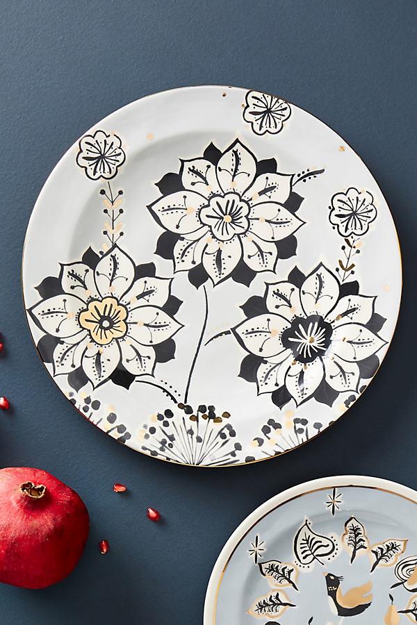 Corrina Dinner Plate - Black & White, Size Dinner