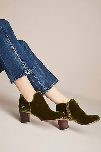 Patricia Nash Velvet Side-Cut Booties