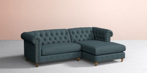 Lyre Chesterfield Two-Piece Chaise Sectional