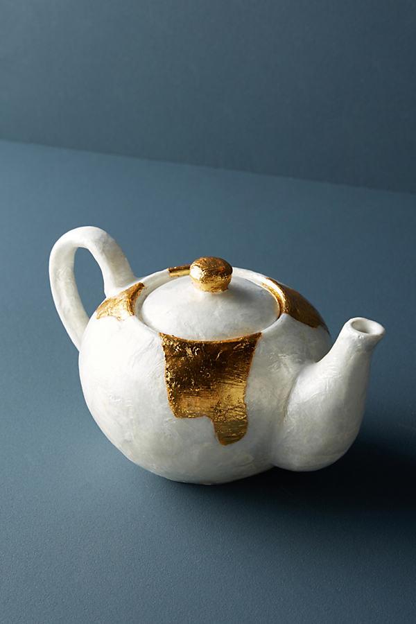 Ursula Teapot - Gold, Size Teapot