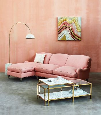 Glenlee Two-Piece Chaise Sectional | Anthropologie
