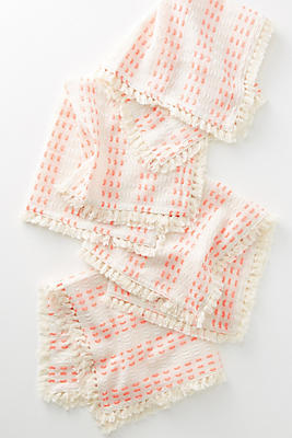 Slide View: 1: Yarn-Dyed Napkin Set