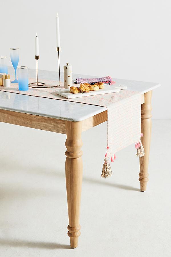 Penelope Tasseled Table Runner - Pink, Size Runner