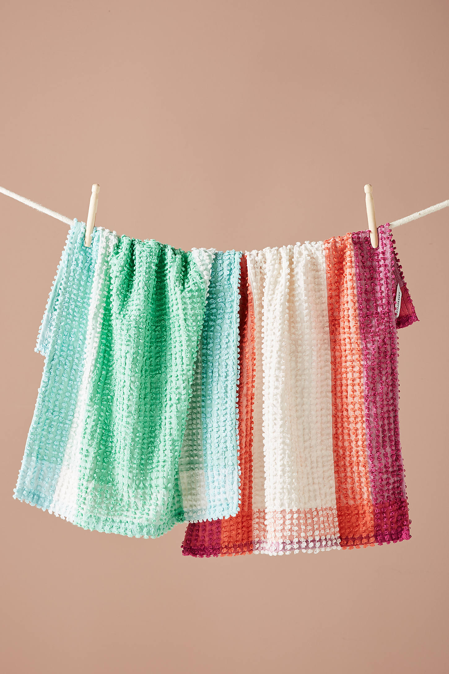 Textured Gingham Dish Towel Set