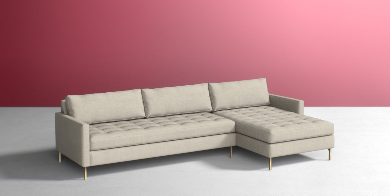Fabulous Angelina Two-Piece Chaise Sectional | Anthropologie RE87