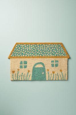 glittered home doormat