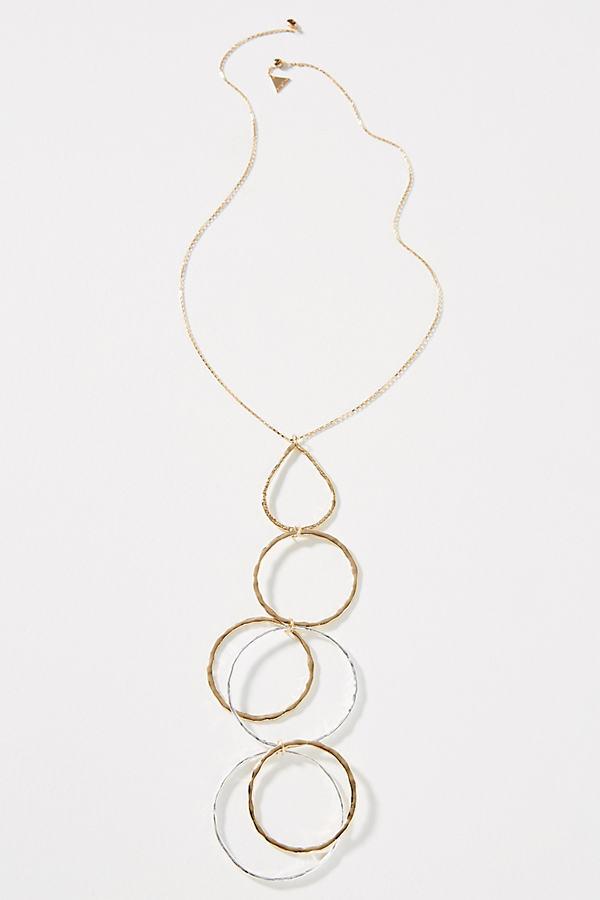 Cassini Ring Pendant Necklace - Gold
