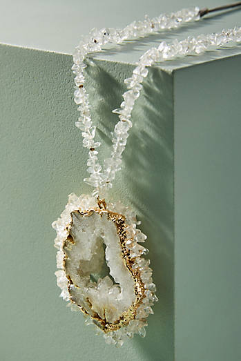 Dreamy Druzy Pendant Necklace