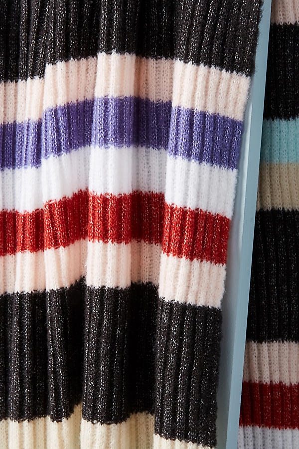 Slide View: 3: Cheery Striped Infinity Scarf