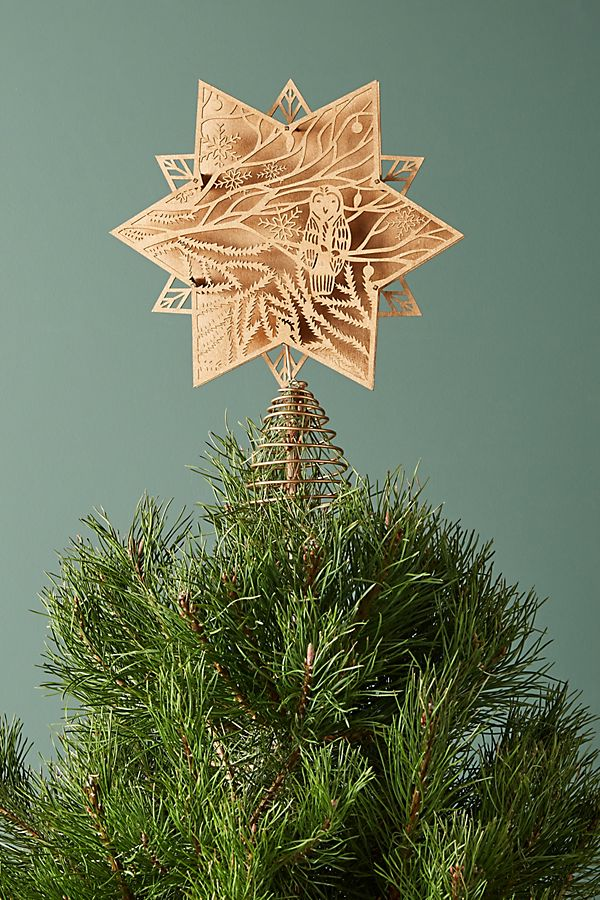 owl cutout tree topper