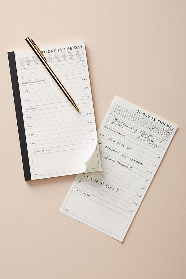 Today Is The Day Notepad Anthropologie