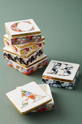Monogram Lidded Jewelry Box Anthropologie