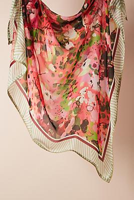 Slide View: 1: Rebero Floral Silk Scarf