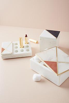 Slide View: 2: Marble Vanity Organizer