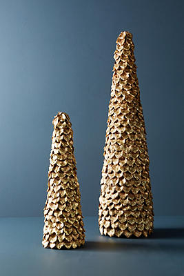 Slide View: 1: Shimmered Pine Tree Decorative Object