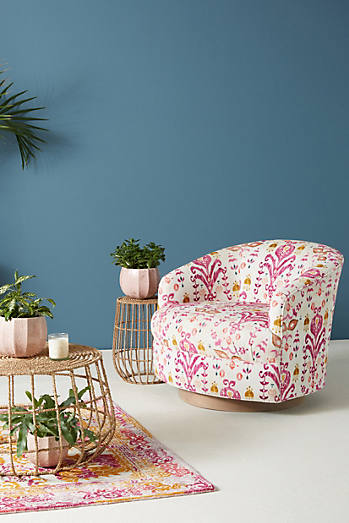Purcella-Printed Amoret Swivel Chair