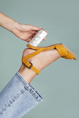 See By Chloe   See by Chloe Ankle Strap Heels  -    YELLOW