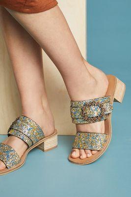 See By Chloe   See by Chloe Buckle Slide Sandals  -    NAVY