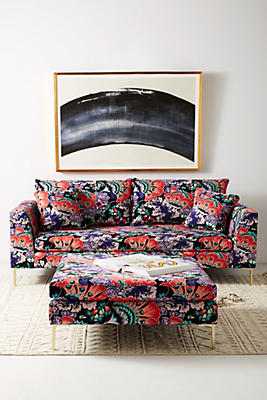Slide View: 1: Liberty for Anthropologie Feather Bloom Edlyn Sofa