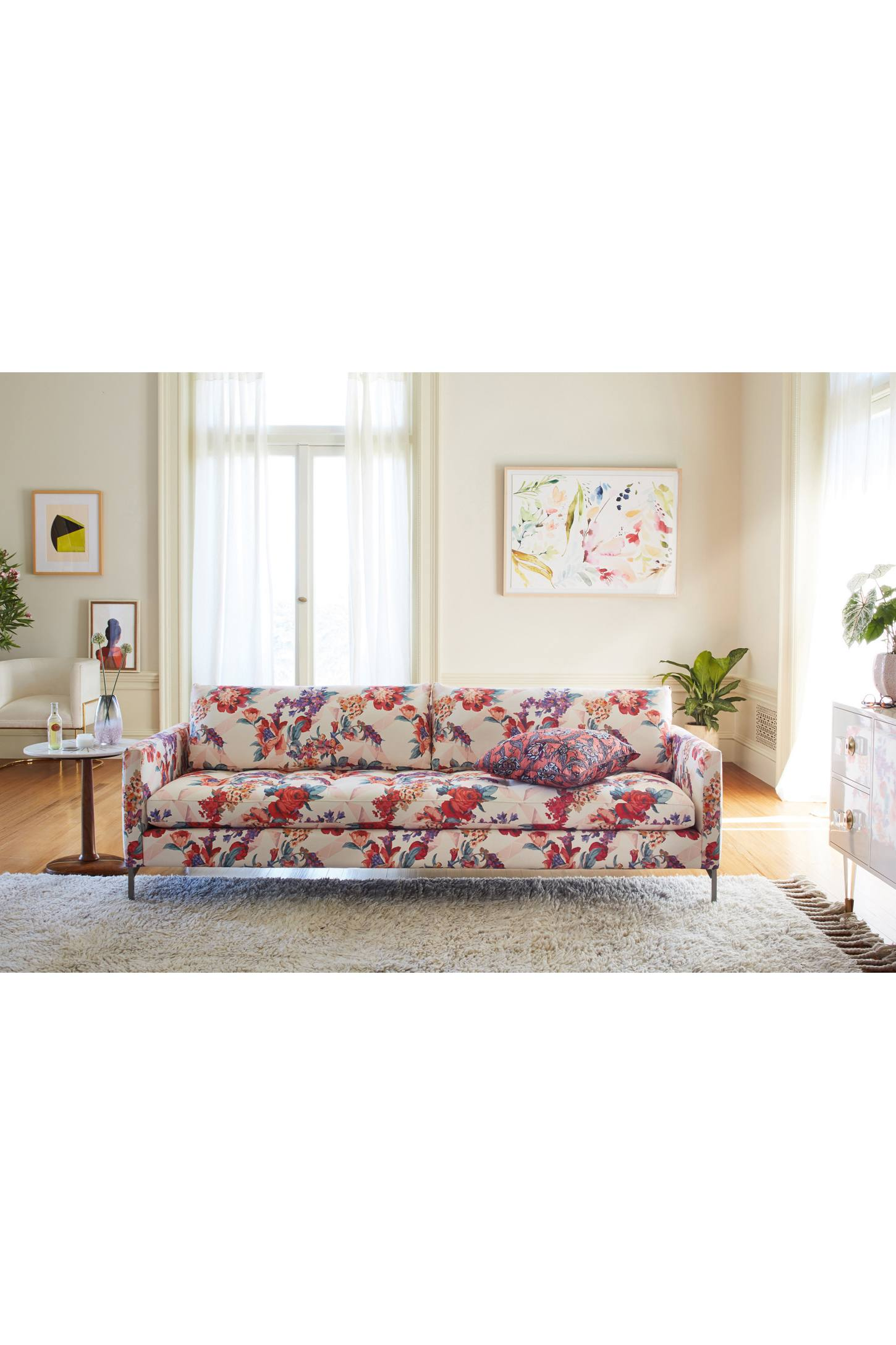 Liberty For Anthropologie Geo Paradise Garden Angelina Sofa  # Meuble Angelina