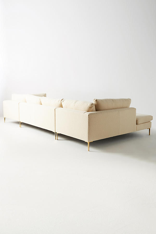 Slide View: 2: Wool Diamond Edlyn Three-Piece U-Shaped Sectional