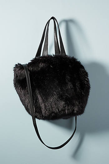 Shimmer Faux Fur Tote Bag