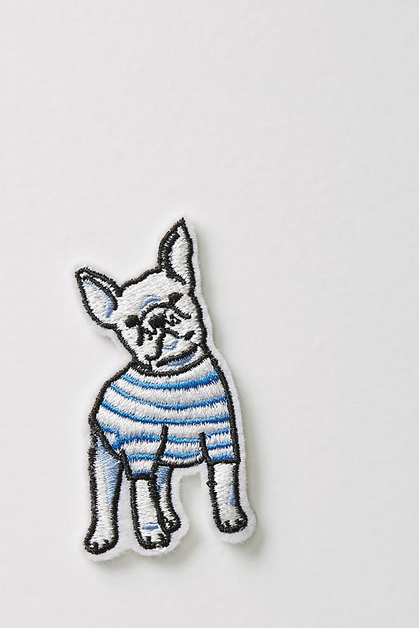 Frenchie Sticker Patch - White