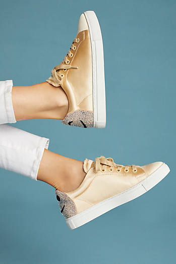 Lola Cruz Satin Smile Sneakers