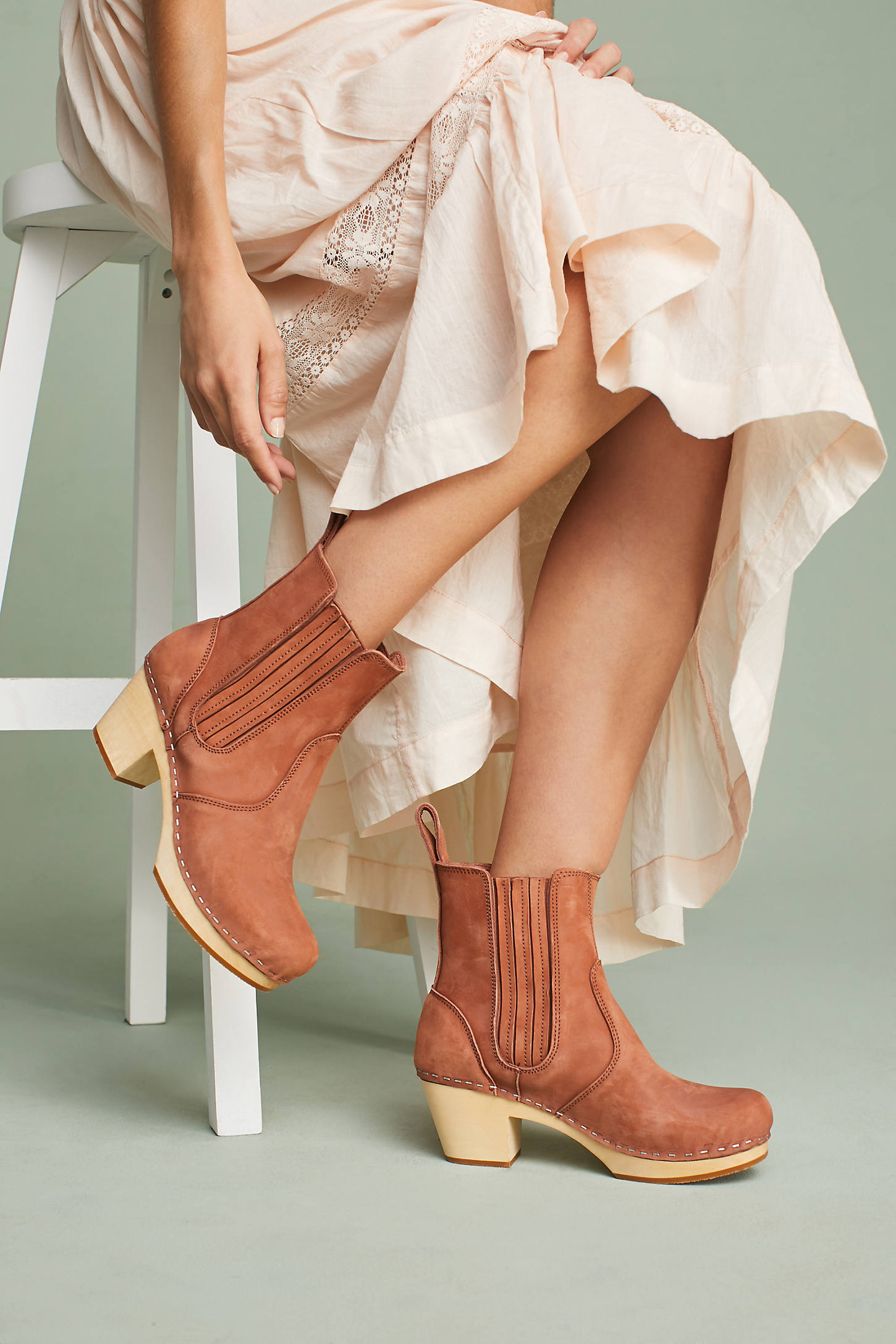Swedish Hasbeens Chelsea Platform Clog Boots