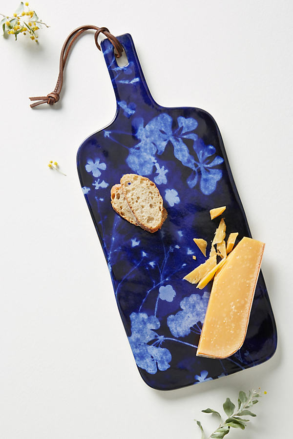 Sitia Cheese Board - Blue, Size Cttngboard