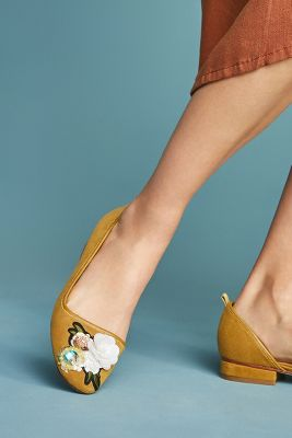 Bill Blass Lola Embellished Ballet Flats Anthropologie