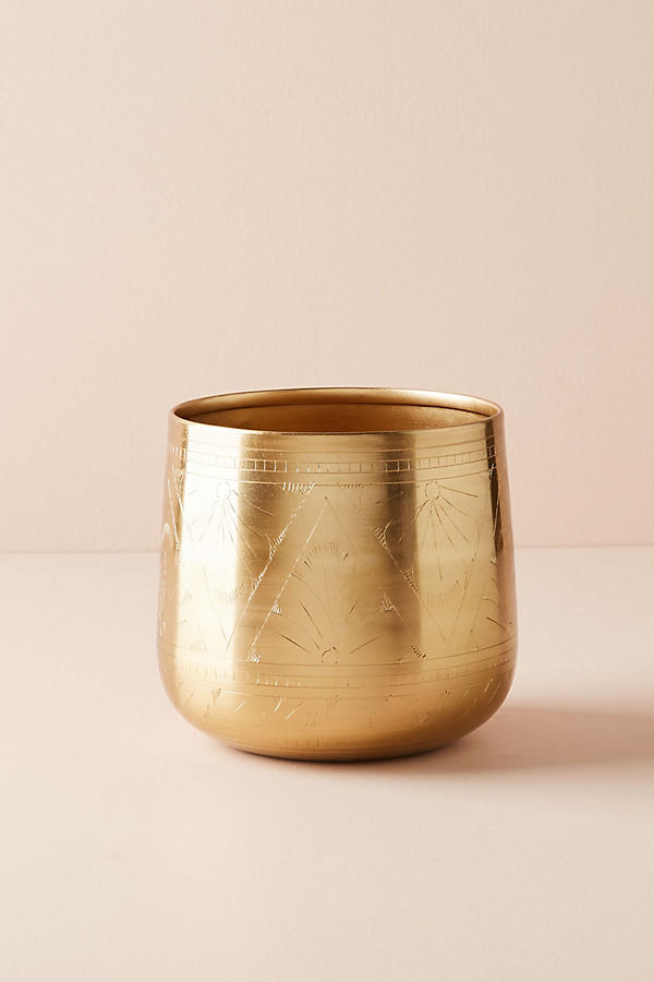 Slide View: 2: Etched Golden Pot