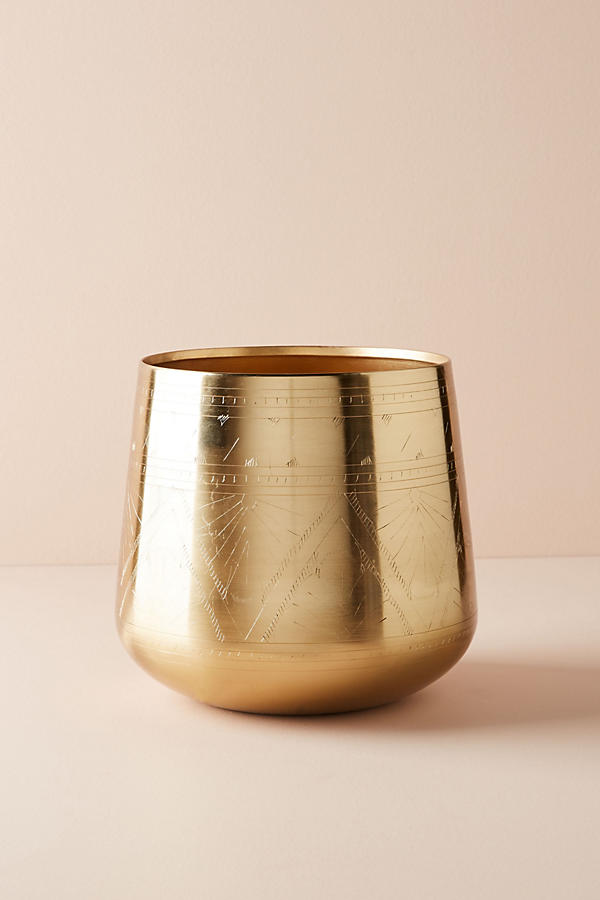 Slide View: 3: Etched Golden Pot