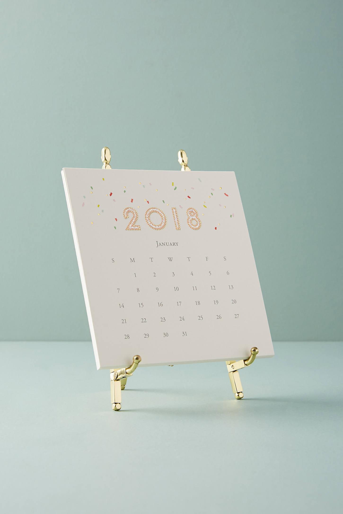 Confetti 2018 Desk Calendar