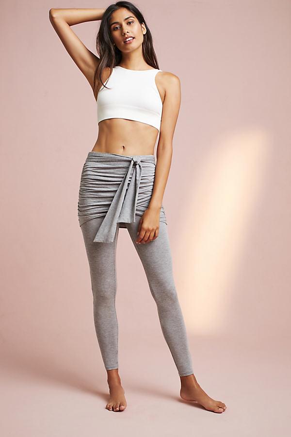 Draped Leggings - Grey, Size S