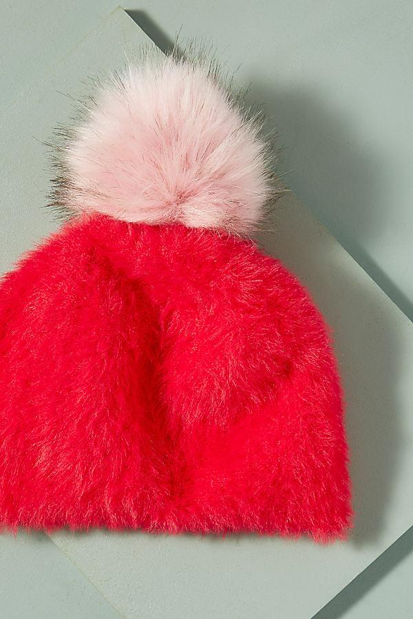 Cosy Pom Pom Beanie - Red