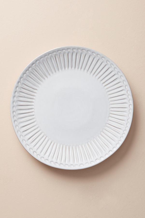Elana Dinner Plate - White, Size Dinner