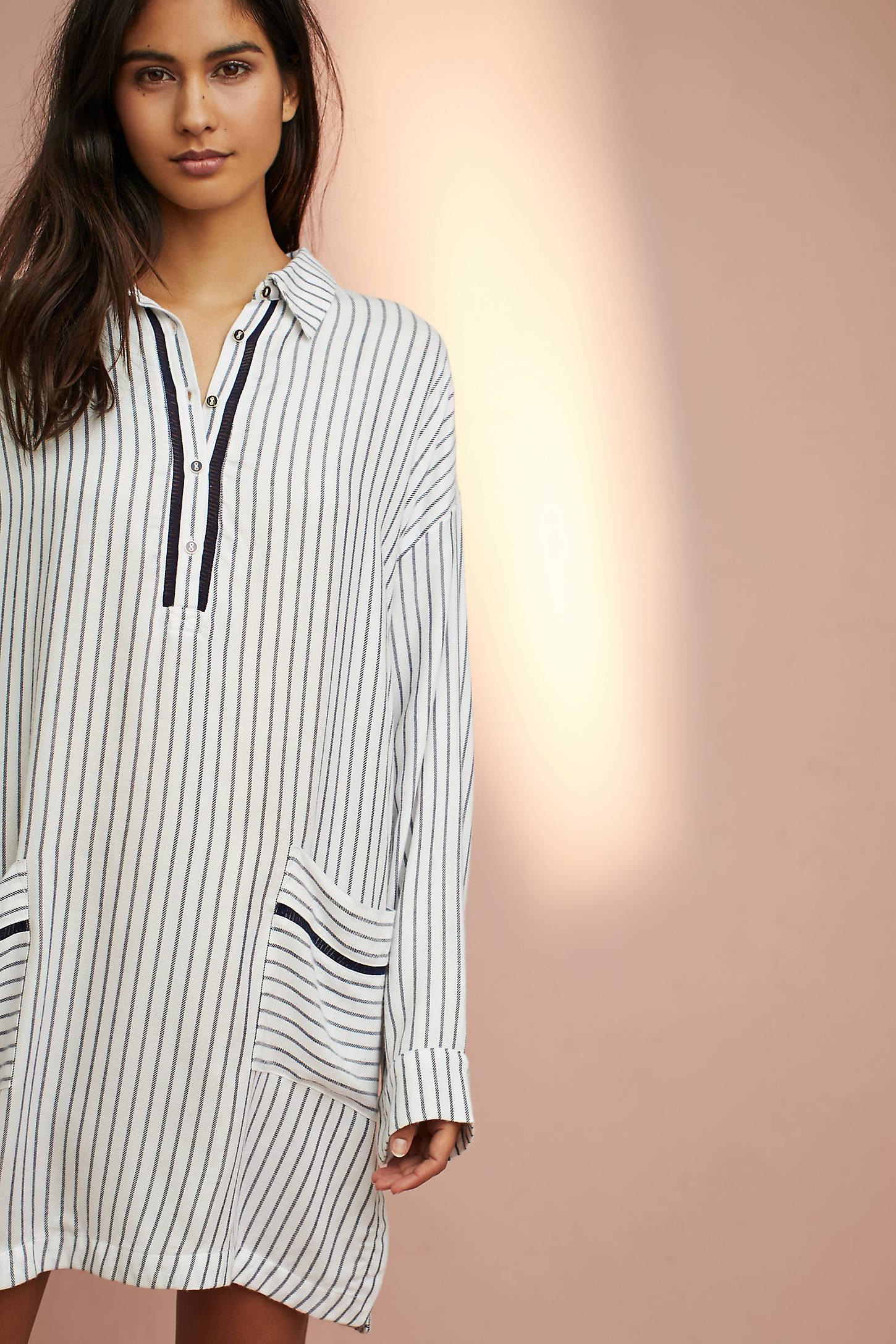 Brushed V-Neck Sleep Shirt