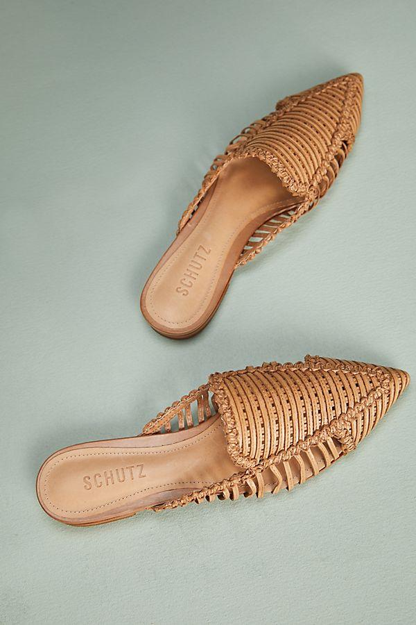 Schutz Marli Woven Leather Mules