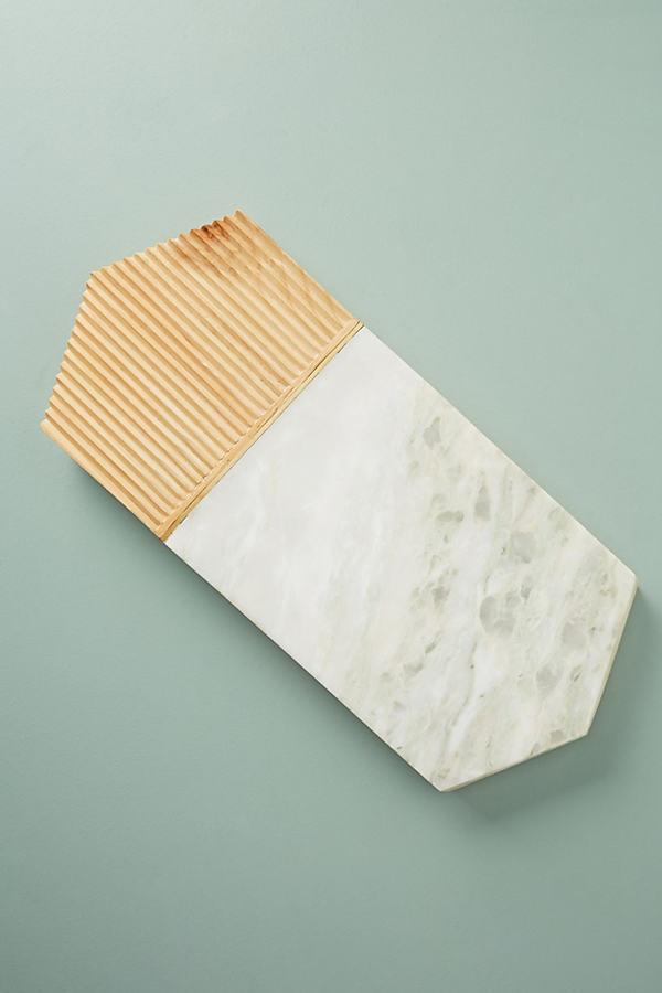 Karala Cheese Board - White, Size Cttngboard