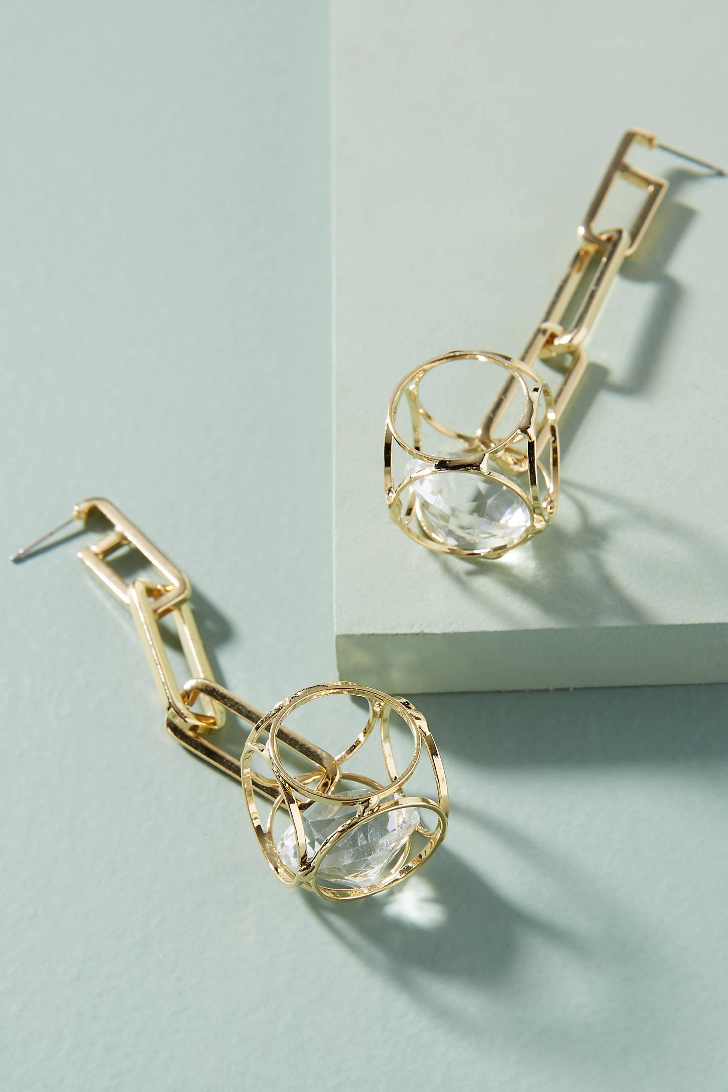 Cage Drop Earrings