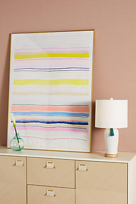 Slide View: 1: Spring Stripes 4 Wall Art