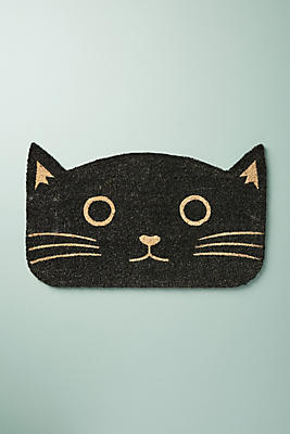 Slide View: 1: Cat Head Doormat