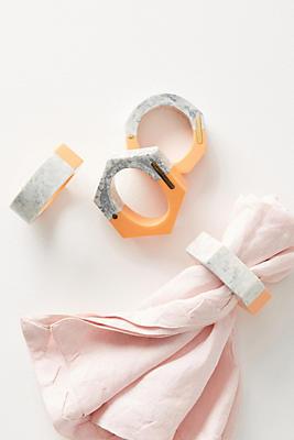 Slide View: 1: Tonality Napkin Ring Set