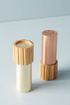 Metalwood Salt & Pepper Shakers by Anthropologie