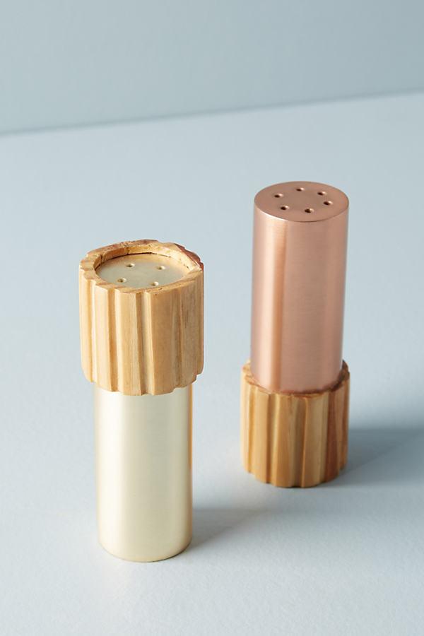 Metalwood Salt & Pepper Shakers - Copper, Size Slt/pepper