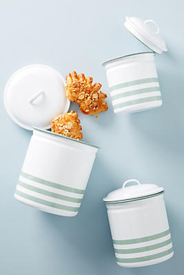 Slide View: 1: Soho Home Hempton Enamelware Canister Set