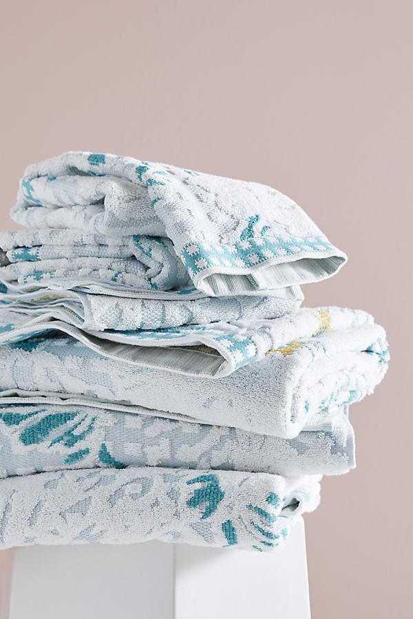 Beatrice Towel Collection - Blue Motif, Size Bath Towel