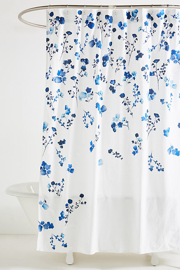 Varela Shower Curtain - Navy, Size Shower Cur