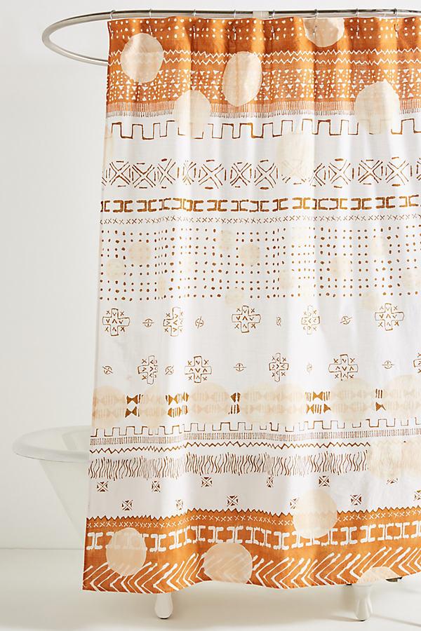 Philomena Shower Curtain - Mango, Size Shower Cur